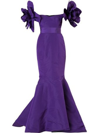 Bambah Purple Valentina Mermaid gown $1,613 - Buy Online - Mobile Friendly, Fast Delivery, Price
