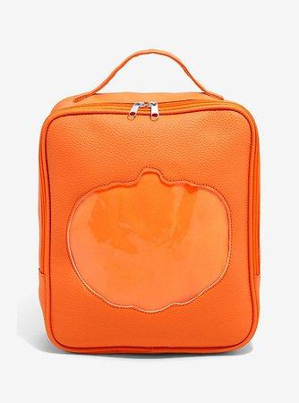 Pumpkin Cutout Pin Collector Mini Backpack