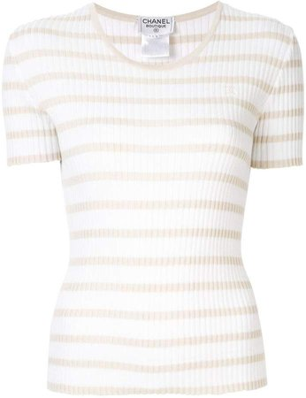 PRE-OWNED knitted striped top