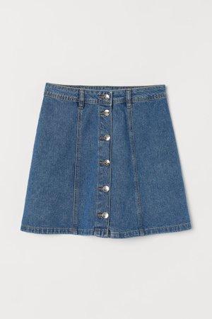 A-line Skirt - Denim blue - Ladies | H&M US