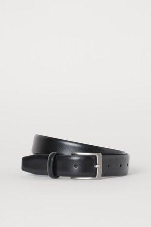 Кожаный ремень - Черный - Мужчины   H&M RU