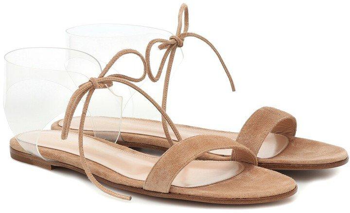 Estelle PVC and suede sandals