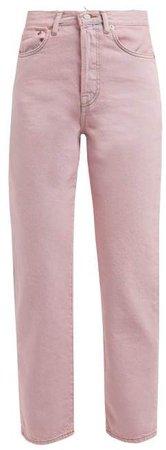 Straight Leg Jeans - Womens - Pink
