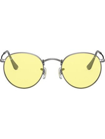 Ray-Ban Round Metal Tinted Sunglasses Aw20 | Farfetch.Com
