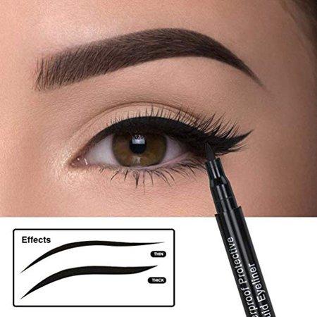 Amazon.com : Liquid Eyeliner Eye Liner Gel Long Lasting Black-Extra Waterproof Protective, Perfect Precise Lines, Non-Core High Sealing Liquid, Charming Eyeliner Deeply Pigmented AsavVea : Beauty