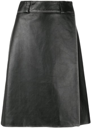 calf leather skirt