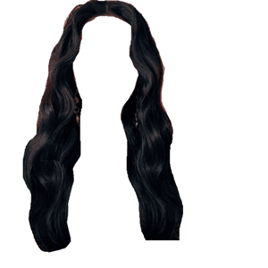 black hair png