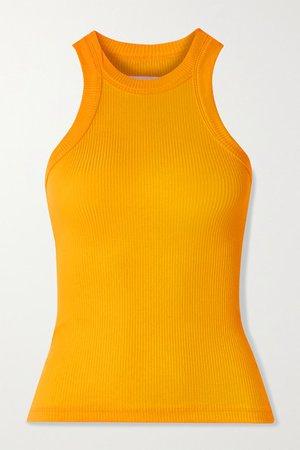 WSLY - The Rivington Ribbed Stretch-tencel Lyocell Tank - Saffron