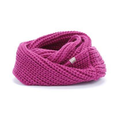 Chunky Rib Infinity Scarf - Berry Pink