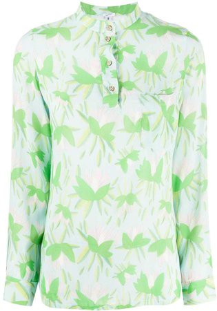 C'Est La V.It floral long-sleeve blouse