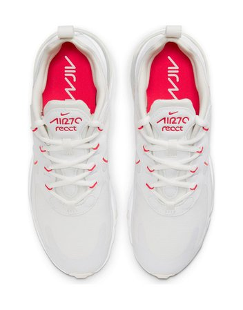 Nike Air Max 270 React sneakers in summit white and siren red   ASOS