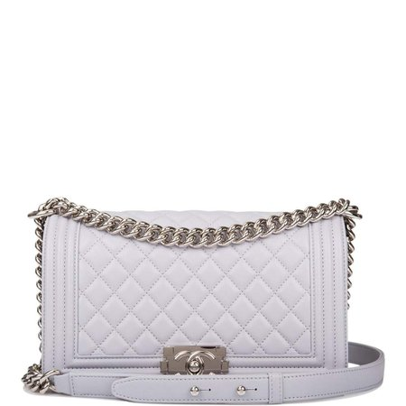 Chanel Grey Quilted Lambskin Medium Boy Bag Silver Hardware – Madison Avenue Couture