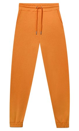 orange Plush jersey jogging trousers - Women's Just in | Stradivarius United States