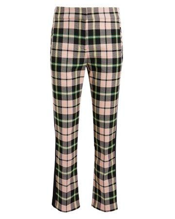 Gemini Checked Straight Ankle Pants
