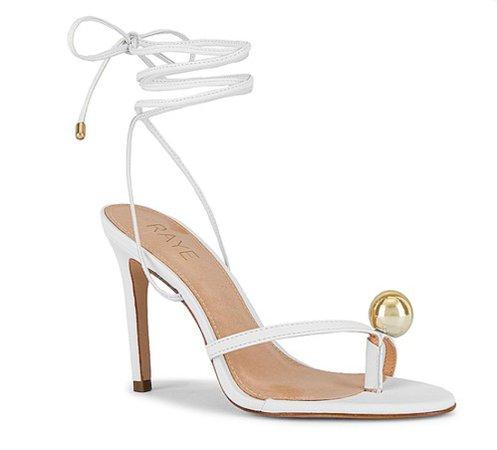 Raye - White Gilda Heels