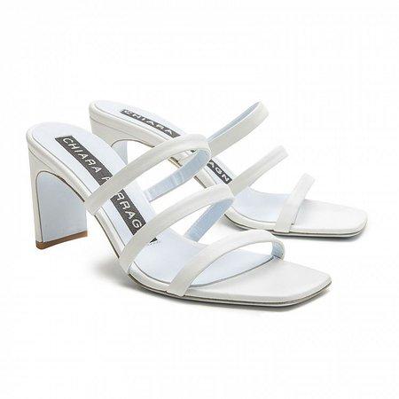 sandals blondie white leather