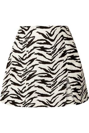 Reformation | Cady zebra-print linen mini skirt | NET-A-PORTER.COM