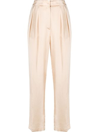 Forte Forte satin tapered trousers 7775MYPANTS - Farfetch