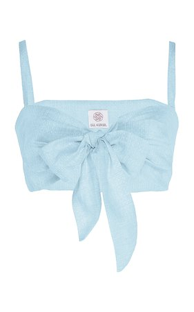Gül Hürgel Linen Tie-Front Bandeau Top Size: XL