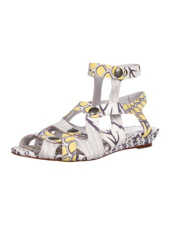 Loeffler Randall Printed Cage Sandals - Shoes - WLF33088 | The RealReal