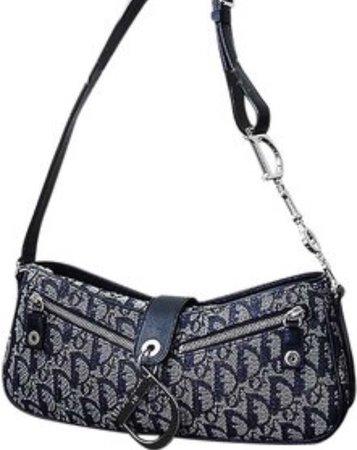 Dior blue shoulder bag