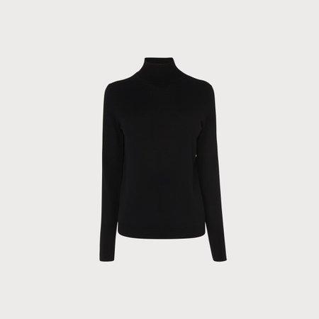 Jae Black Silk Cotton Jumper | Clothing | L.K.Bennett
