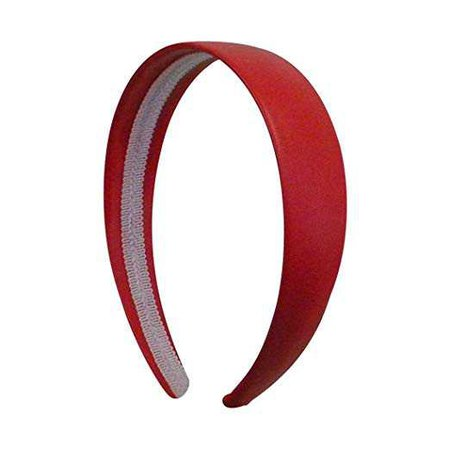 Amazon.com: Bright Red 1 Inch Wide Leather Like Headband Solid Hair band for Women and Girls: Beauty