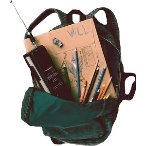 stranger things moodboard filler png backpack