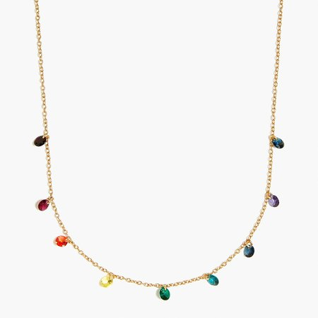 J.Crew Factory: Multi-rainbow Disc Necklace For Women