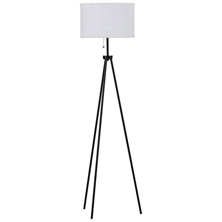 Rivet Mid Century Modern Tripod Décor Living Room Standing Floor Lamp With Light Bulb - 58 Inches, Black - - Amazon.com