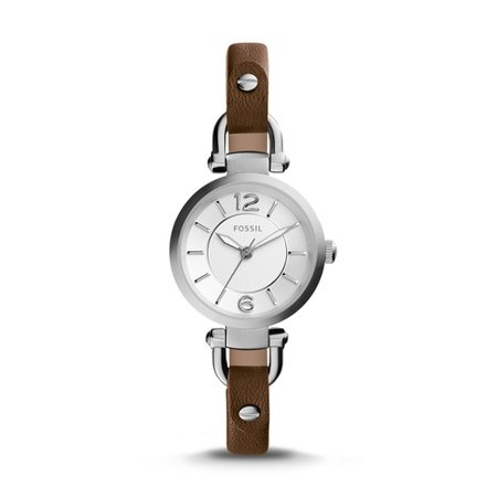 Georgia Brown Leather Watch - Fossil