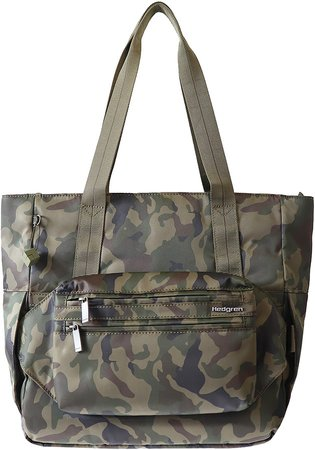 Hedgren Wind & Water Repellent Camo Print Tote