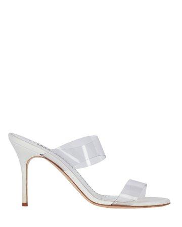 Manolo Blahnik Scolto PVC Strap Sandals | INTERMIX®
