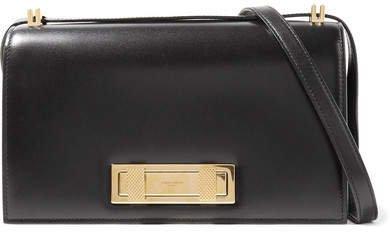 Domino Leather Shoulder Bag - Black