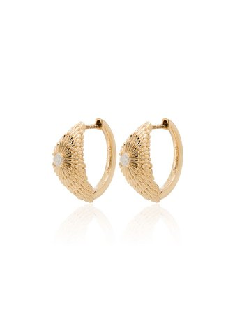 Yvonne Léon, Sea Urchin 18kt Gold Diamond Hoop Earrings