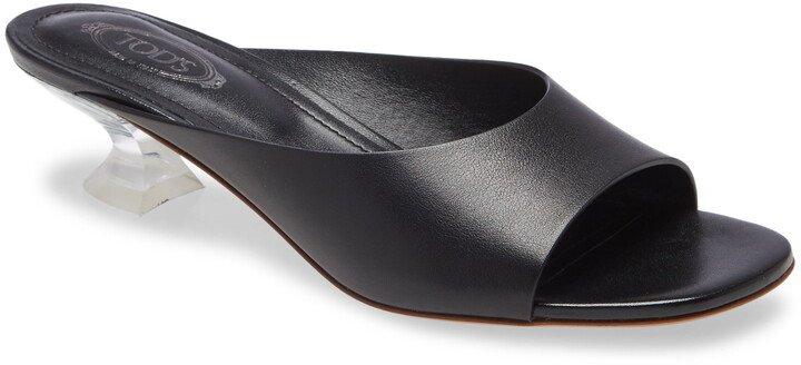 Clear Heel Slide Sandal