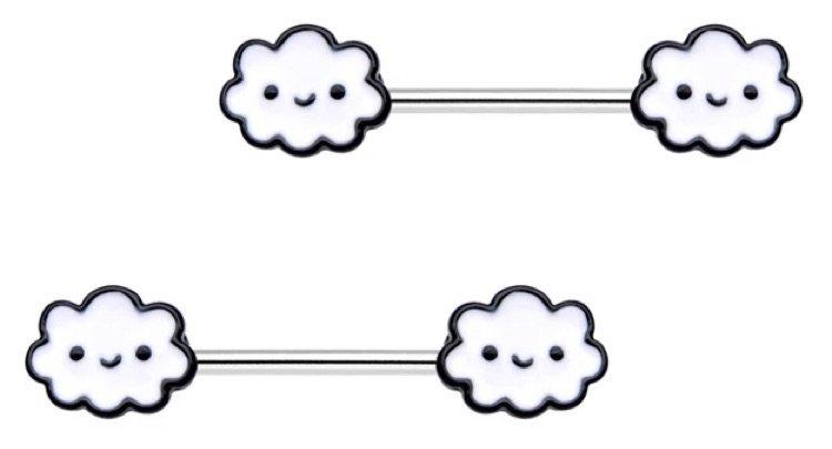 cloud nipple rings