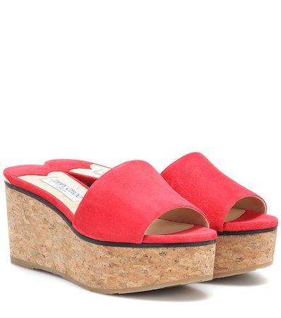 Deedee 80 suede wedge sandals