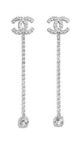 chanel silver earings