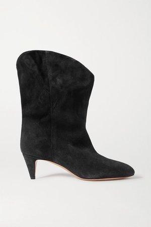 Dernee Suede Ankle Boots - Black