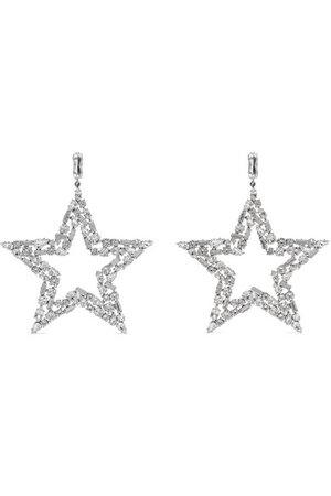 Saint Laurent | Silver-tone crystal clip earrings | NET-A-PORTER.COM