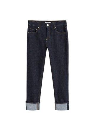 MANGO Stich dark jeans