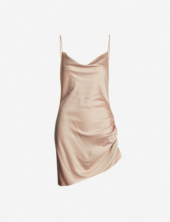 TOPSHOP - Ruched satin mini dress | Selfridges.com