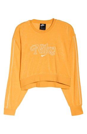 Nike Sportswear Retro Femme Crewneck Crop Sweatshirt orange