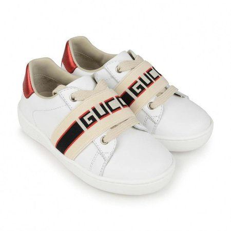 GUCCI White Leather Ace Sneakers - GUCCI Shoes - Top Designers - Shoes