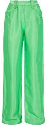 Satin-twill Wide-leg Pants