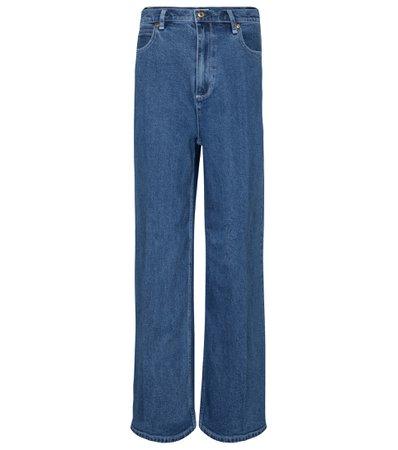 Tory Burch, High-rise wide-leg jeans