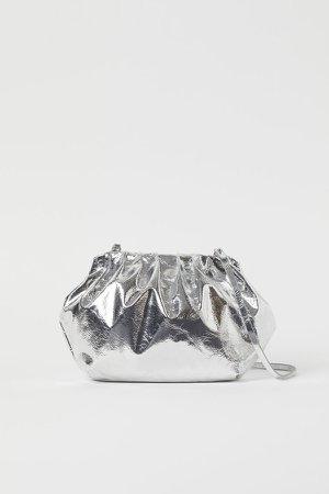 Soft Shoulder Bag - Silver