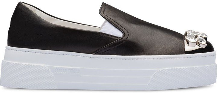 Nappa Leather Slip-On Sneakers