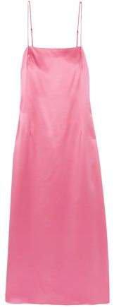 Silk-satin Midi Slip Dress